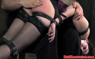 armbinded subs spanked over the knee