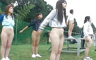 oriental shoolgirls are nude at public