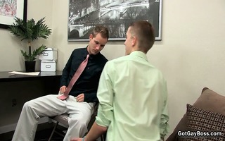 marvelous chaps engulf and fuck in office part0