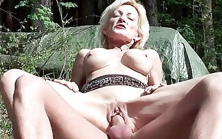 breasty blond granny gets drilled by a juvenile