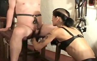 femdom-goddess dometria speed punches my balls