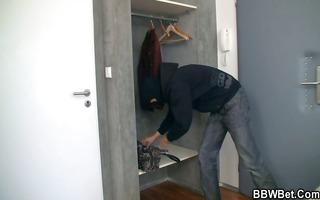 bbw receives pounded by slutty burglar