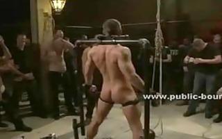 homosexual sex serf fastened on thraldom device