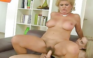 granny enjoys lesbo sex with pleasing legal age