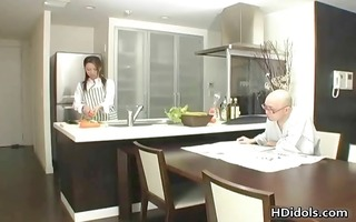 omoe hinatsu cooks up sex in the kitchen part11