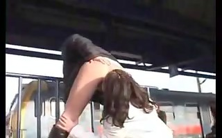 lesbo honeys in public