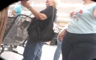 large butt big beautiful woman granny shopping -