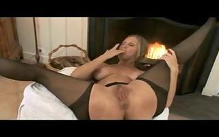 mature mama stockings & hard hot nipples