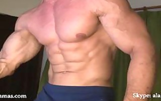 muscle wang shows off n bust creamy load