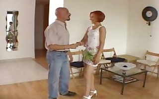 dilettante awesome redhead hot wife talking with