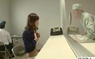 japanese gal undresses naked in prisoner visiting
