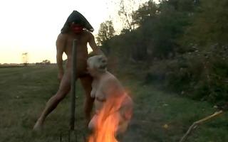 granny gives satan a oral-sex