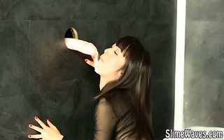 slime drenched gloryhole wam wench