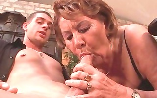 slutty 113yo granny sucks on a juvenile boyz rod