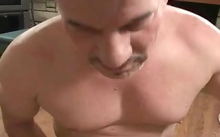 stud with foot fetish puts penis in angels face