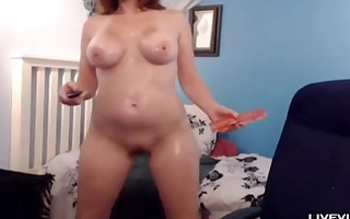 oiled breasty redhead mother i nikki masturbates