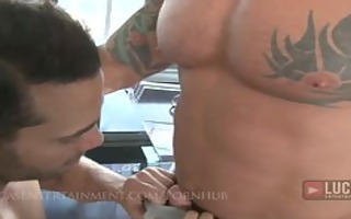 muscle studs with chubby cocks fuck and cum