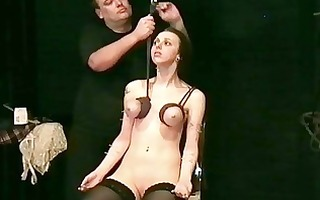 brutal tit hanging sadomasochism of pierced