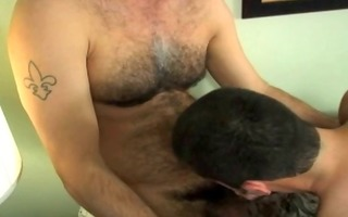 very sexy curly dad discharge cum in throat