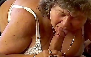 breasty granny is deeply screwed