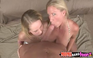 hawt mamma and her daughter fuck fortunate lad