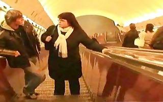 aged fattie in the metro