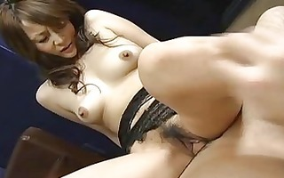 marvelous hot japanese chick receives creampie