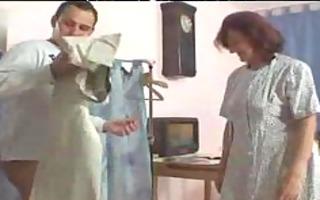 aged seamstress sucks and copulates mature aged