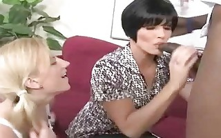 breasty mama and daughter gangbanged by a