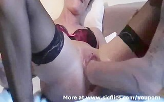 fisting my wifes monster swollen fur pie