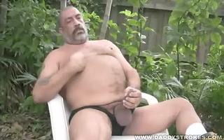 joe jerks his bulky tool outside