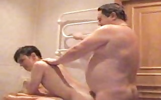 chunky homosexual dad bangs his juvenile twink in