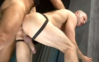french muscled fellows fuck in a sex club