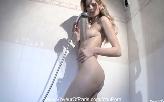 french angel girlfriend showering