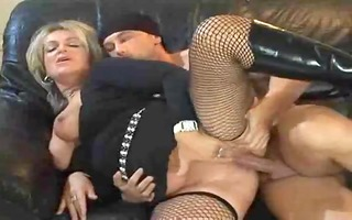 sexy blond euro older banging in boots