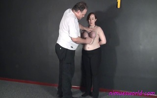 bulky amateur submissives breast slavery and