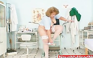 chubby old nurse mommy receives nasty in gyn