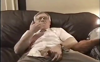 old dad disrobe and jerk of