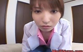 ann nanba oriental nurse shows off her cute part3