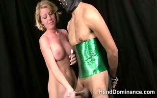 real non-professional femdom milking pliant cock