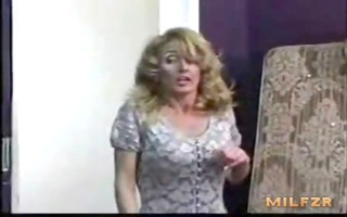 old mother caught her son masturbating and screwed