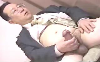 japan dad have large jock jerking off