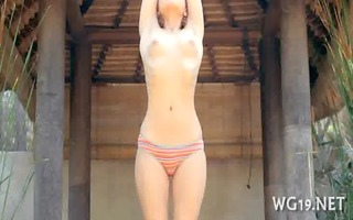 hottie plays with sex toy
