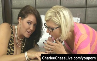 breasty charlee chase shares a large pounder with