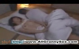 japanese son bonks his amorous mother when daddy