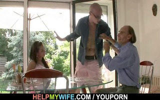 a lad is invited to gangbang olds guy hawt wife