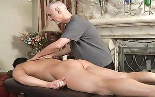 aged homo hunk sucks younger hard jock on massage