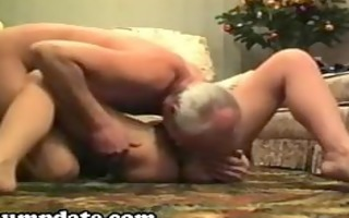 slutty older honey sucks and rides on schlong