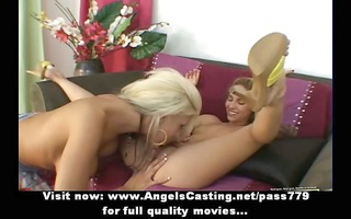 virginal lesbo dolls fingering and licked slit