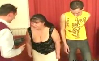 obese aged honey takes youthful cocks from the